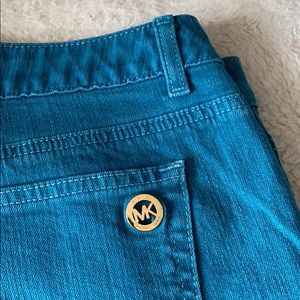 Michael Kors Teal Mid Rise Jeans Size 14